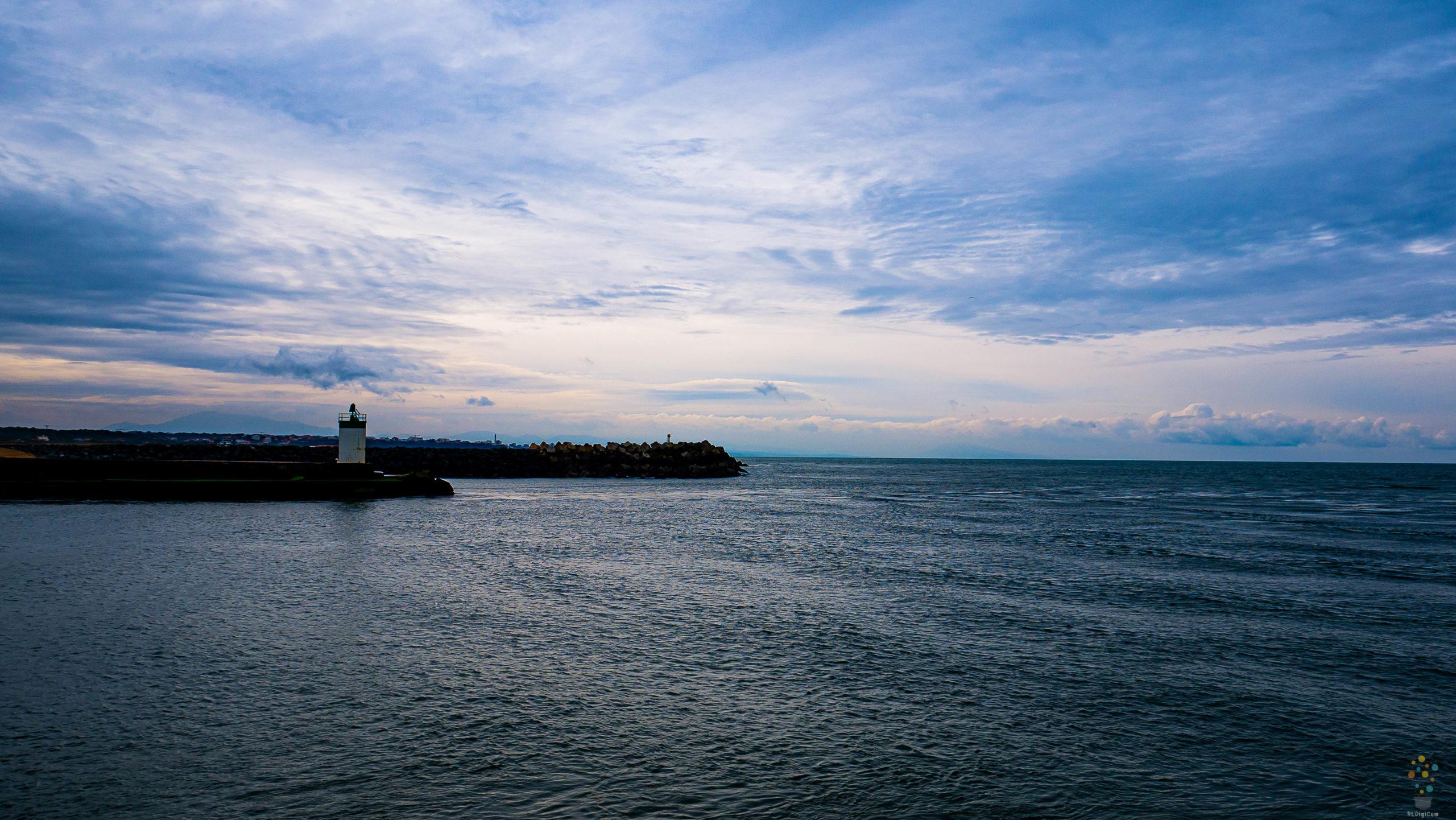 Entrée du port de Bayonne